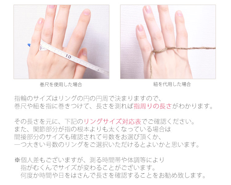 指周りの長さが分かります